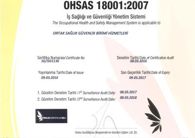 OHSAS 18001 001